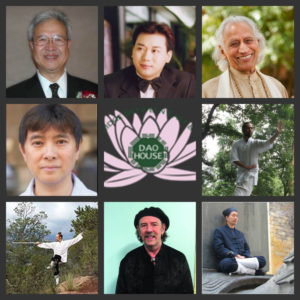 (From left to right) Top Row : William Young, Dr. G Y Li, and Amrit Desal, Middle Row: Jeffrey Yuen, Dao House Logo, and David Wei. Bottom row: Michael Vollero, Solala Towler, and Master Chen.