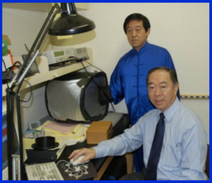 Grandmaster Chen (in blue) and Dr. Shin Lin used Single Photon Counting system.